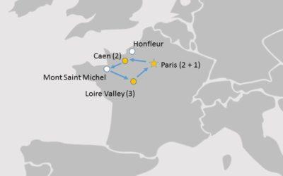 French Language Tour Map