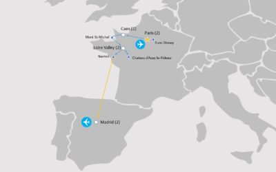 Map - Highlights France and Spain Tour - HFS941