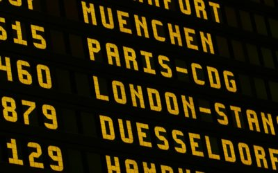 Airport sign board display