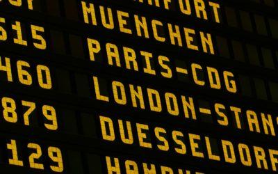 Airport sign board display