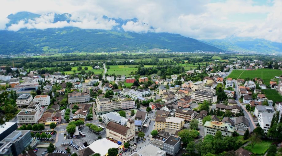 Liechtenstein city scape country