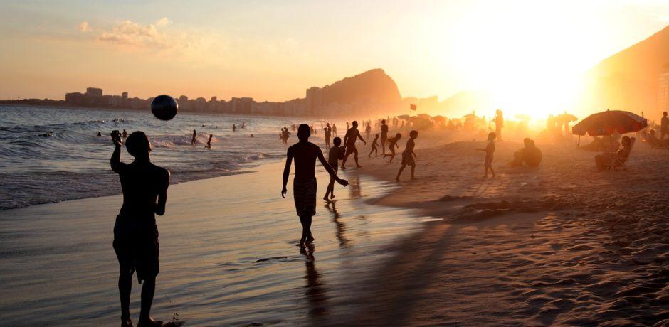 Rio de Janeiro, Brazil, Beach, friends, people, sunset