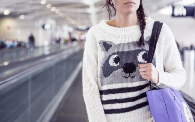 Girl woman bag Airport bag suitcase luggage personal