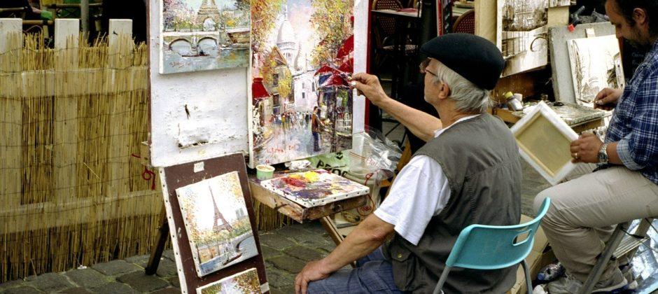 Paris Montmartre Artists Square sidewalk-painters-1253239_1280