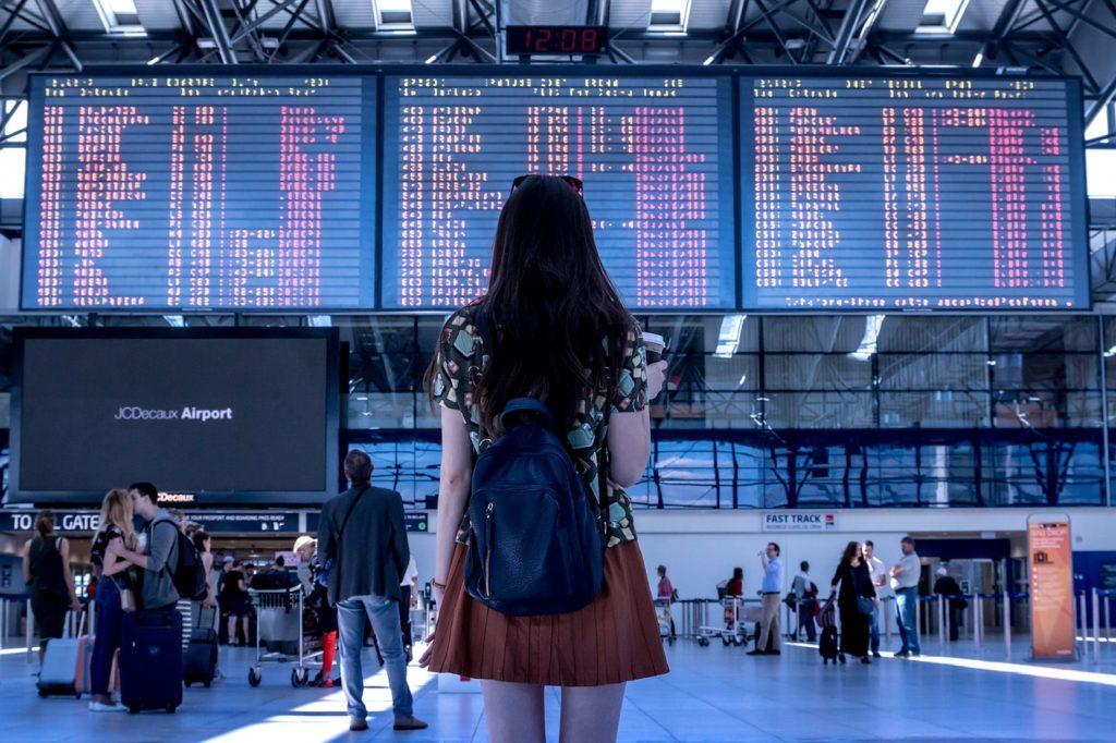 Tour Insurance, girl, airport, travel