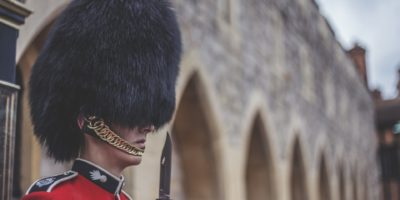 London England Windsor Castle Guard