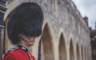 London England Windsor Castle Guard