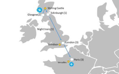 Group Study Tours Map   Lingo Tours