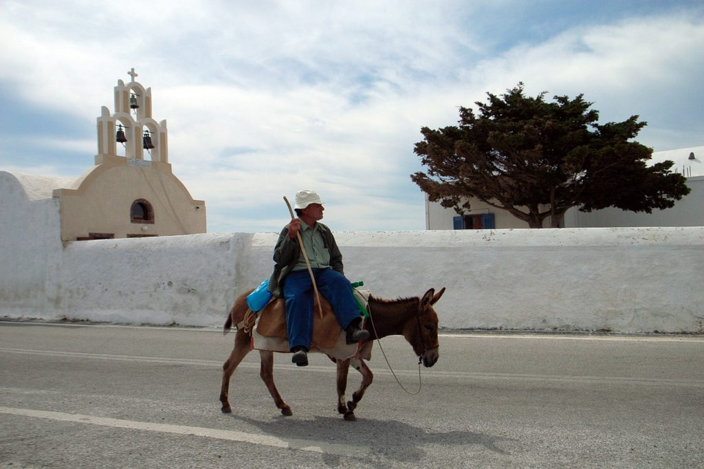 Greek Island Hopping Tour | Local Donkey Transport