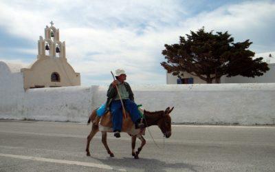 Greek Island Hopping Tour | Local Donkey Transport