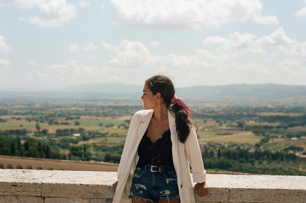 Assisi Italy, single person, woman